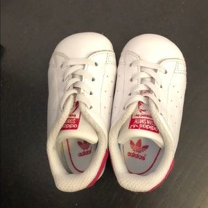 Stan Smith pink and white baby adidas